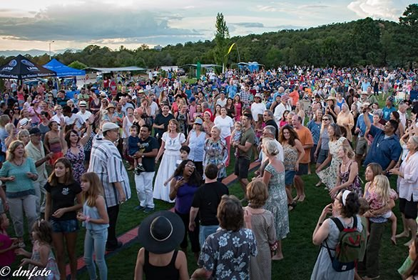 Crowds gather for Music on the Hill
