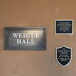 Santa Fe Weigle Hall Wall Plaque
