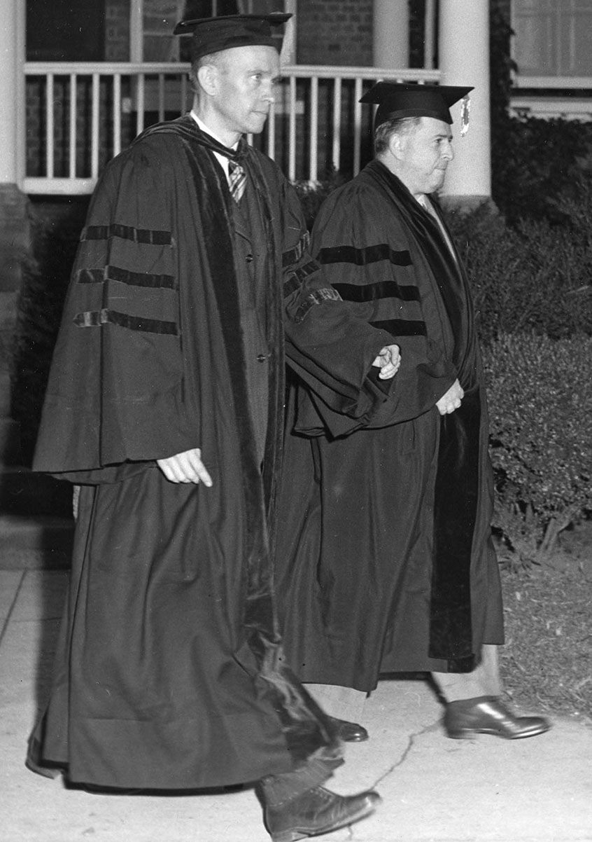 Convocation 1949 Richard Weigle and Jacob Klein