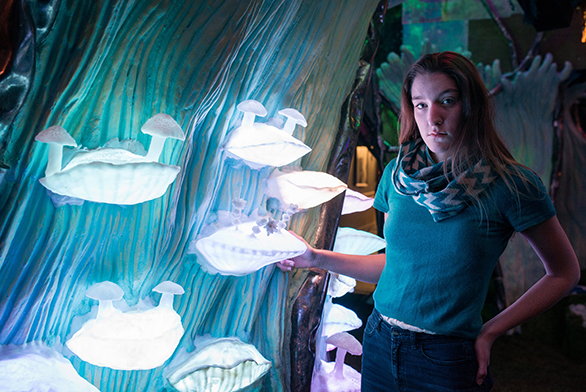 Maggie Thornton (SF15) plays a pivotal role at Meow Wolf.