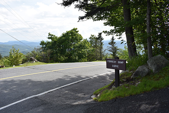 Forest Gump Curve is located along the way up Grandfather Mountain in western North Carolina.