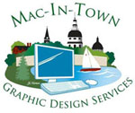 Mac in Town Graphic Design Services Logo