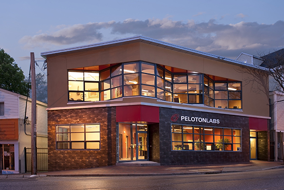 PelotonLabs, owned and operated by a St. John's College alumna, is on a busy thoroughfare in Portland, Maine.