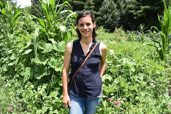 Jillian Sico (A05) stands in a community garden outside of Atlanta.