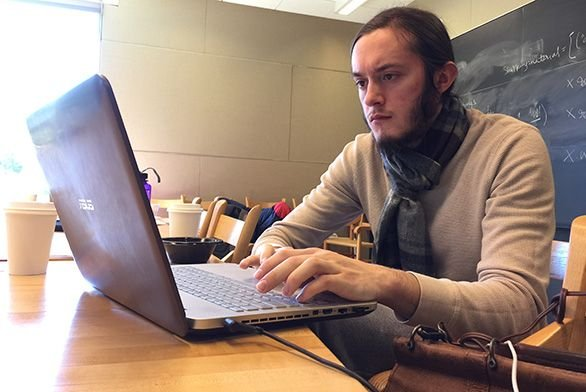 Student participates in coding camp