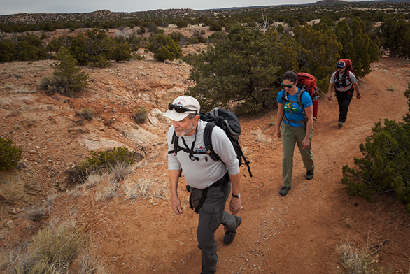 The Atalaya Search and Rescue team treks through northern New Mexico.