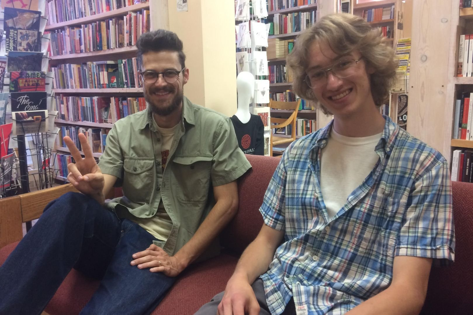 Ken Baumann and student