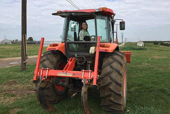 Alumna Kristi Durbin manages the Community Supported Agriculture program at the University of Kentucky.