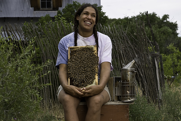 Melanie Kirby owns a beekeeping business in New Mexico.