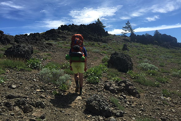Tristan Janes hikes on a section of the Pacific Crest Trail in 2015.