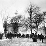 McDowell Hall on Fire in 1909