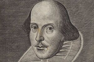 Shakespeare First Folio Folger Droeshout Portrait