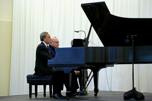 Seymour Bernstein and Michael Kimmelman Playing Piano