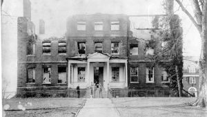 McDowell Hall after Fire of 1909 SJC
