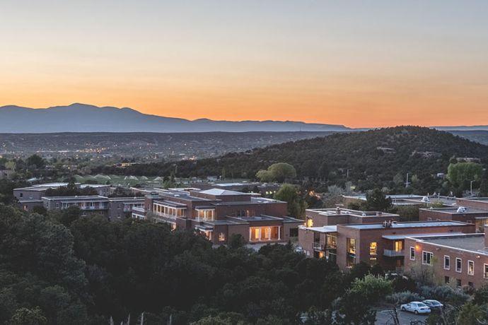 Santa Fe Campus View Dusk Pano 2016