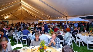 Tent Dinner at Mark Roosevelt Inauguration 2016