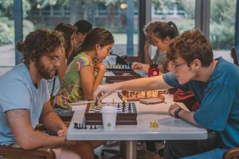 Students Playing Chess 2017 Annapolis St Johns College